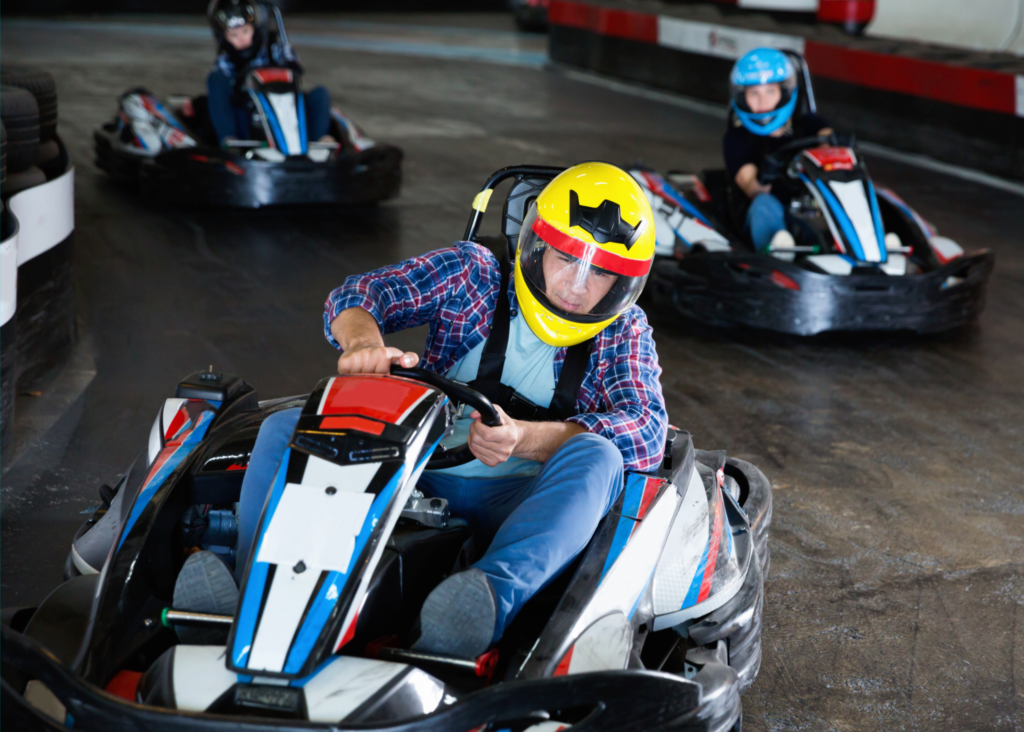 Is indoor karting fun? Drivers of all ages declare HELL YES!