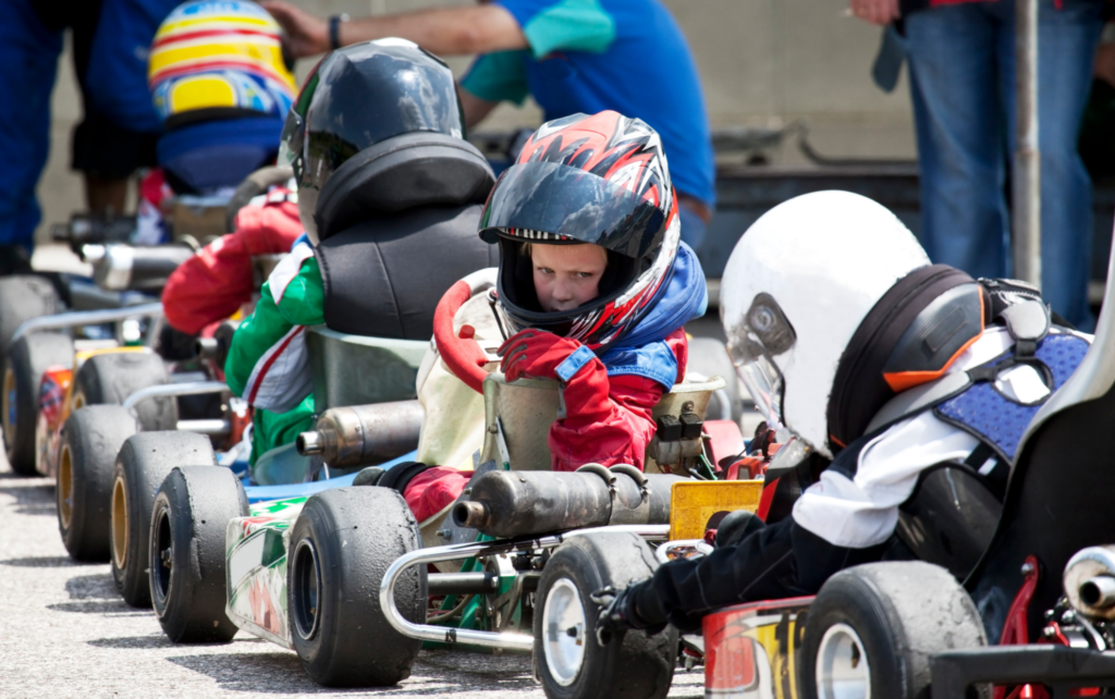 Is go karting hard? Not to this youngster!
